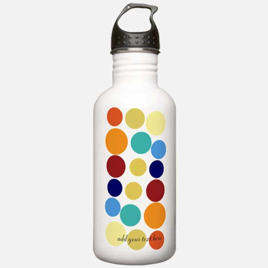 Bright Polka Dots Water Bottle