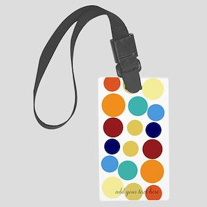 Bright Polka Dots Large Luggage Tag