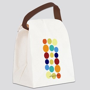 Bright Polka Dots Canvas Lunch Bag
