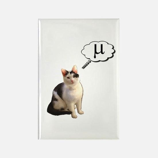 Mu Kitty Rectangle Magnet
