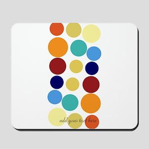 Bright Polka Dots Mousepad