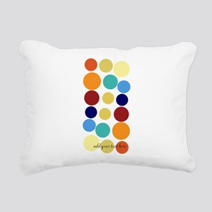 Bright Polka Dots Rectangular Canvas Pillow
