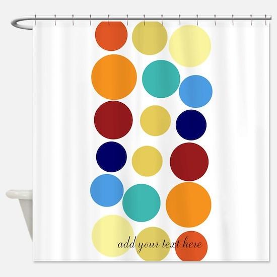 Bright Polka Dots Shower Curtain