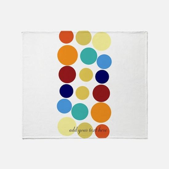 Bright Polka Dots Throw Blanket