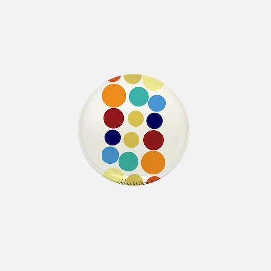 Bright Polka Dots Mini Button