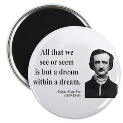 """Edgar Allan Poe 1 2.25"""" Magnet (100 pack)"""