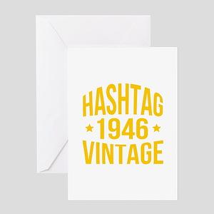 Humor Hashtag 1946 Vintage Greeting Card