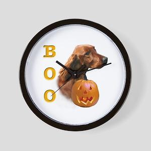 Irish Setter Boo Wall Clock