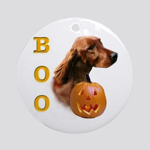 Irish Setter Boo Ornament (Round)