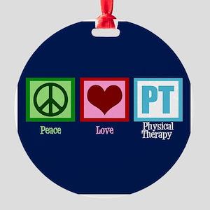 PT Blue Round Ornament