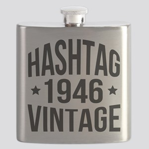 Humor Hashtag 1946 Vintage Flask