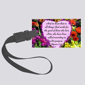 ROMANS 8:28 Large Luggage Tag