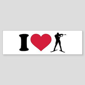 I love Biathlon Sticker (Bumper)