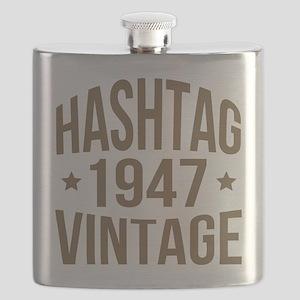 Humor 1947 Hashtag Vintage Flask
