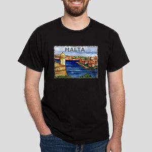 Vintage Malta Art Dark T-Shirt