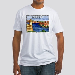 Vintage Malta Art Fitted T-Shirt