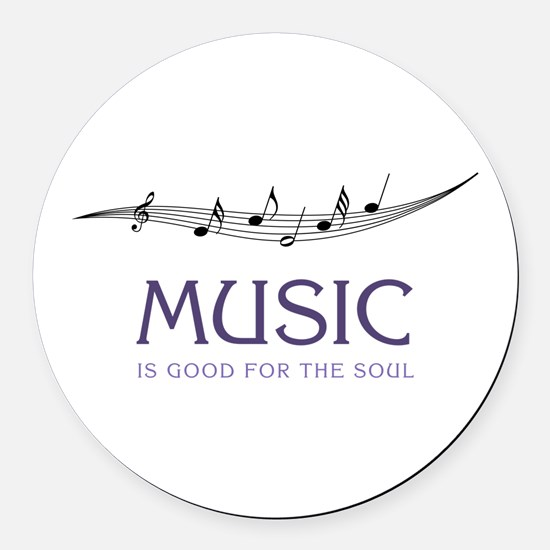 Music For Soul Round Car Magnet