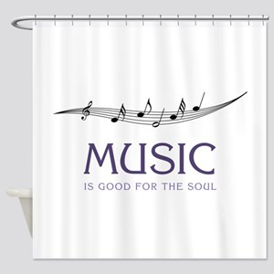 Music For Soul Shower Curtain