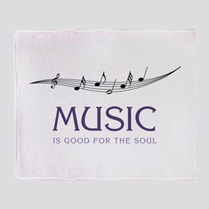Music For Soul Throw Blanket