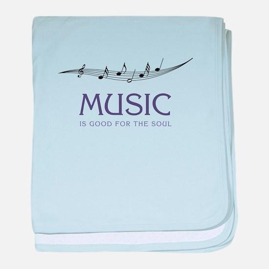 Music For Soul baby blanket