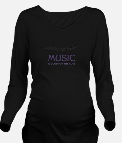 Music For Soul Long Sleeve Maternity T-Shirt
