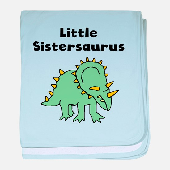 Little Sistersaurus baby blanket