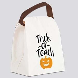 Trick or Teach Canvas Lunch Bag