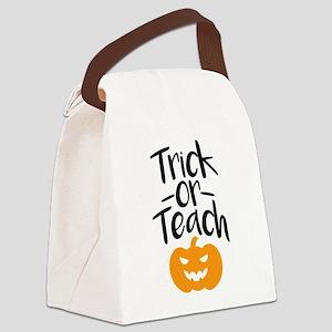 Trick or Teach Canvas Lunch Bag