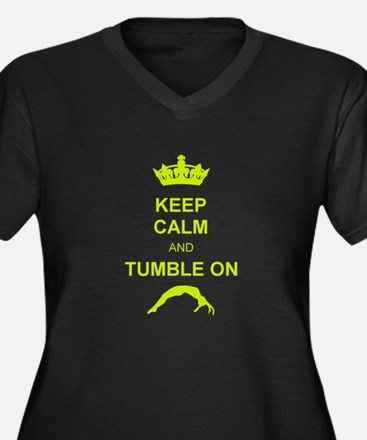 keep calm and tumble on Plus Size T-Shirt