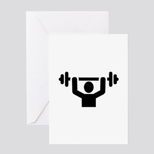 Weightlifting powerlifting Greeting Card