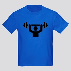 Weightlifting powerlifting Kids Dark T-Shirt