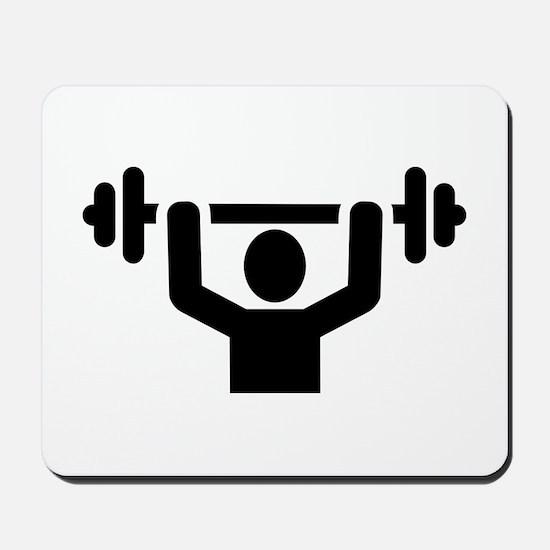 Weightlifting powerlifting Mousepad