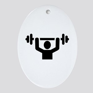 Weightlifting powerlifting Ornament (Oval)