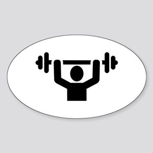 Weightlifting powerlifting Sticker (Oval)