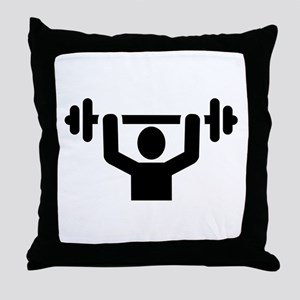 Weightlifting powerlifting Throw Pillow
