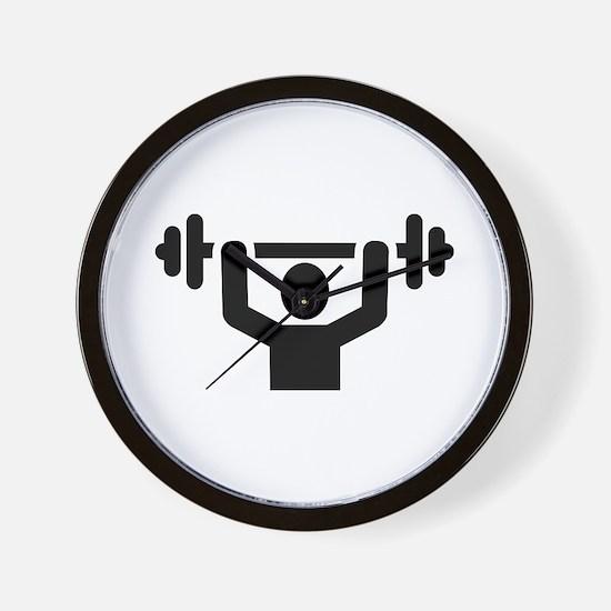 Weightlifting powerlifting Wall Clock