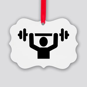Weightlifting powerlifting Picture Ornament