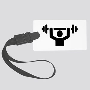 Weightlifting powerlifting Large Luggage Tag