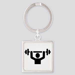 Weightlifting powerlifting Square Keychain