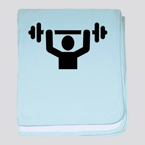 Weightlifting powerlifting baby blanket