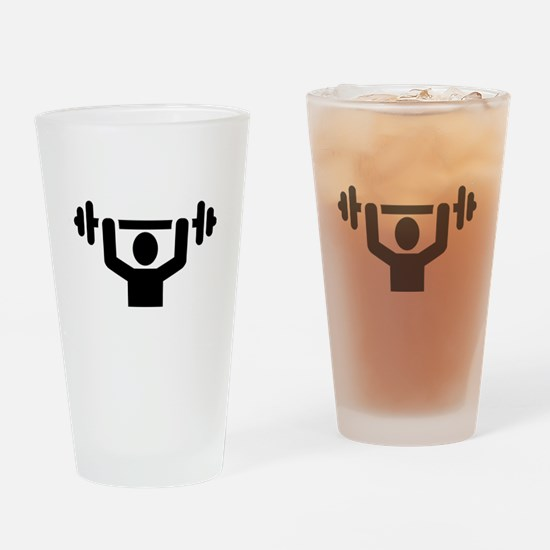 Weightlifting powerlifting Drinking Glass