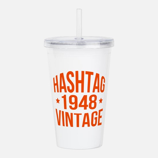Hashtag 1948 Vintage Acrylic Double-wall Tumbler
