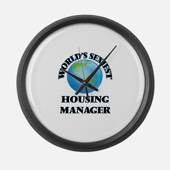 World's Sexiest Housing Manager Large Wall Clock