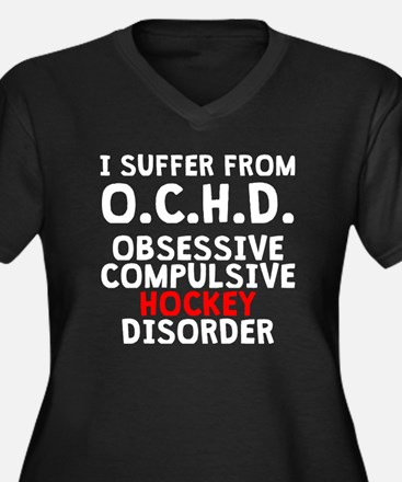 Obsessive Compulsive Hockey Disorder Plus Size T-S