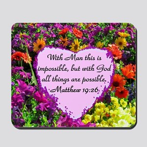 MATTHEW 19:26 Mousepad