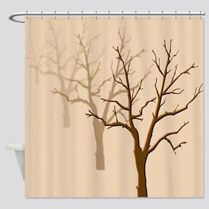 Wintry Trees Shower Curtain