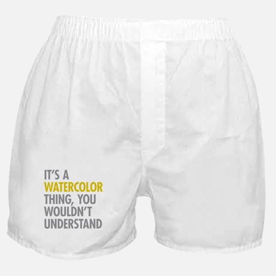 Its A Watercolor Thing Boxer Shorts