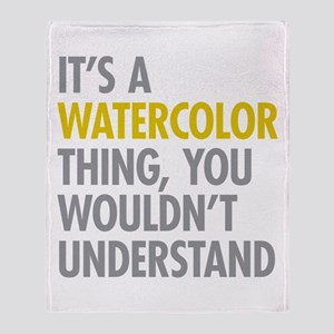 Its A Watercolor Thing Throw Blanket