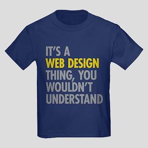 Web Design Thing Kids Dark T-Shirt