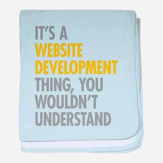 Website Development Thing baby blanket